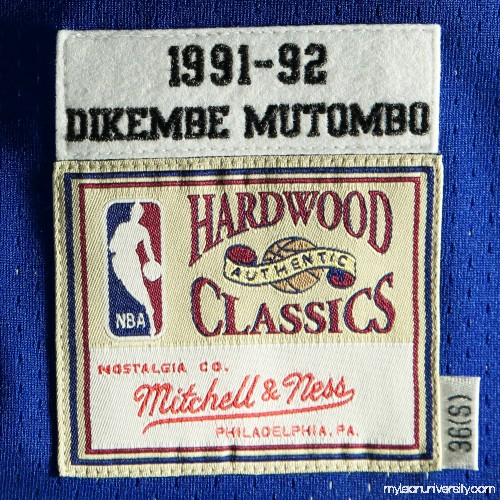 045c15f54a13 Mens Denver Nuggets Dikembe Mutombo Mitchell   Ness Navy Blue Authentic  Basketball Jersey - 1833914
