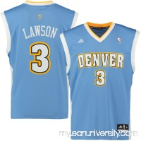 Mens Denver Nuggets Ty Lawson adidas Light Blue Replica Road Jersey -   564779
