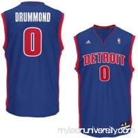 Mens Detroit Pistons Andre Drummond adidas Royal Blue Replica Alternate Jersey -   1782730