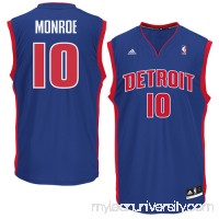 Mens Detroit Pistons Greg Monroe adidas Royal Blue Replica Road Jersey -   879585