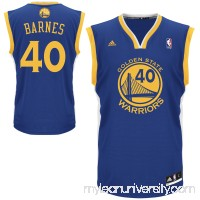 Mens Golden State Warriors Harrison Barnes adidas Royal Blue Replica Road Jersey -   1534492