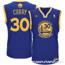 Mens Golden State Warriors Stephen Curry adidas Royal Blue Replica Road Jersey -   491925