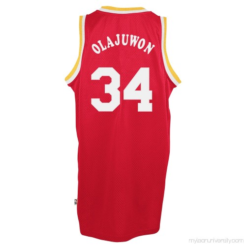 buy popular 6683b d47b5 Mens Houston Rockets Hakeem Olajuwon adidas Red Hardwood ...