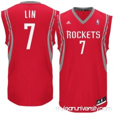 Mens Houston Rockets Jeremy Lin adidas Red Replica Road Jersey - 975570