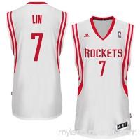 Mens Houston Rockets Jeremy Lin adidas White Swingman Home Jersey -   1132820