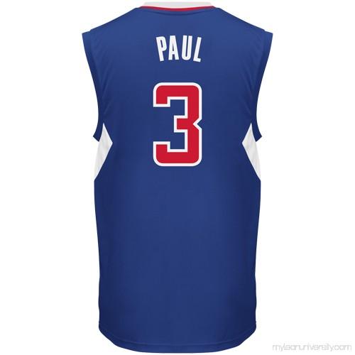 66d1af34385 Mens LA Clippers Chris Paul adidas Royal Blue Replica Alternate Jersey -  878857