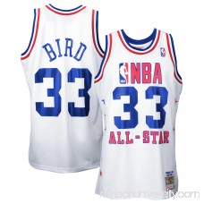 Mens Larry Bird Mitchell & Ness White 1990 All Star Game Authentic Basketball Jersey - 1834311