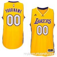 Mens Los Angeles Lakers adidas Gold Custom Swingman Home Jersey -   1831025