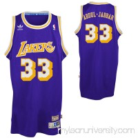 Mens Los Angeles Lakers Kareem Abdul-Jabbar adidas Purple Hardwood Classics Swingman Jersey -   1626953