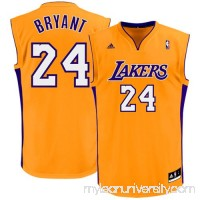 Mens Los Angeles Lakers Kobe Bryant adidas Gold Replica Home Jersey -   486381