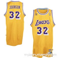 Mens Los Angeles Lakers Magic Johnson adidas Gold Hardwood Classics Swingman Jersey -   1780976