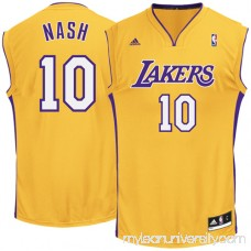 Mens Los Angeles Lakers Steve Nash adidas Gold Replica Home Jersey - 960072