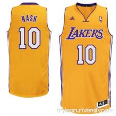 Mens Los Angeles Lakers Steve Nash adidas Gold Swingman Home Jersey - 1063147