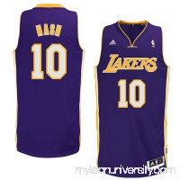 Mens Los Angeles Lakers Steve Nash adidas Purple Swingman Road Jersey -   1082356