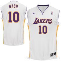 Mens Los Angeles Lakers Steve Nash adidas White Replica Alternate Jersey -   1023742