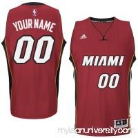 Mens Miami Heat adidas Red Custom Swingman Alternate Jersey -   1785870