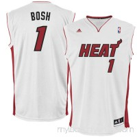 Mens Miami Heat Chris Bosh adidas White Replica Home Jersey -   519397