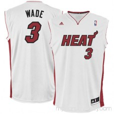 Mens Miami Heat Dwyane Wade adidas White Replica Home Jersey - 491863