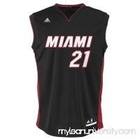 Mens Miami Heat Hassan Whiteside adidas Black Replica Road Jersey - 2037323