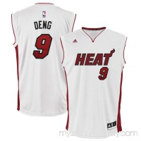 Mens Miami Heat Luol Deng adidas White Home Replica Jersey -   1949249