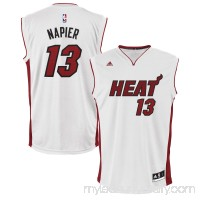 Mens Miami Heat Shabazz Napier adidas White Home Replica Jersey -   1949248