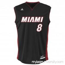 Mens Miami Heat Tyler Johnson adidas Black Replica Road Jersey -   2037321