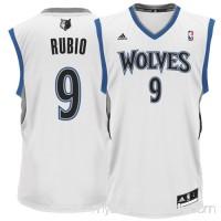Mens Minnesota Timberwolves Ricky Rubio adidas White Replica Home Jersey -   879841