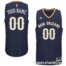 Mens New Orleans Pelicans adidas Navy Custom Swingman Road Jersey -   1831030