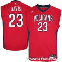Mens New Orleans Pelicans Anthony Davis adidas Red Replica Alternate Jersey -   1782727