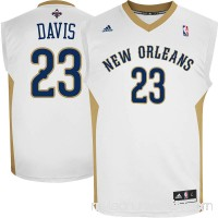 Mens New Orleans Pelicans Anthony Davis adidas White Replica Home Jersey -   1440801