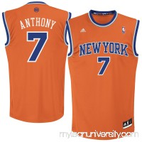 Mens New York Knicks Carmelo Anthony adidas Orange Replica Alternate Jersey -   1557188