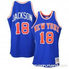 Mens New York Knicks Phil Jackson Mitchell & Ness Royal Blue 1972-73 Authentic Basketball Jersey - 1834364