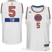 Mens New York Knicks Tim Hardaway Jr. adidas White 2014-15 Christmas Day Swingman Home Jersey -   1833362