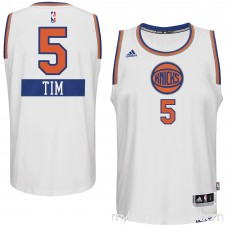 Mens New York Knicks Tim Hardaway Jr. adidas White 2014-15 Christmas Day Swingman Home Jersey - 1833362