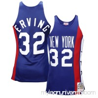 Mens New York Nets Julius Erving Mitchell & Ness Royal Blue 1975 Authentic Basketball Jersey -   1834438