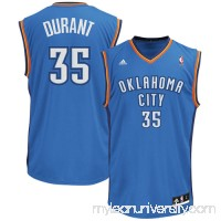 Mens Oklahoma City Thunder Kevin Durant adidas Light Blue Replica Road Jersey - 491920