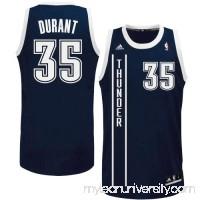 Mens Oklahoma City Thunder Kevin Durant adidas Navy Blue Replica Alternate Jersey -   879838