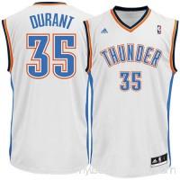 Mens Oklahoma City Thunder Kevin Durant adidas White Swingman Home Jersey -   491730