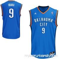 Mens Oklahoma City Thunder Serge Ibaka adidas Light Blue Replica Road Jersey -   1534405