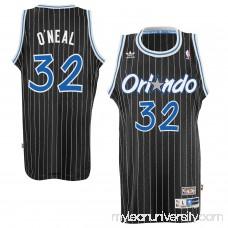 Mens Orlando Magic Shaquille O'Neal adidas Black Hardwood Classics Swingman Jersey -   1780979
