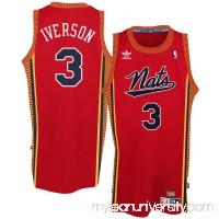 Mens Philadelphia 76ers Allen Iverson adidas Red Hardwood Classics Swingman Jersey- -   1774179