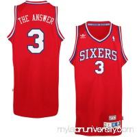 Mens Philadelphia 76ers Allen Iverson adidas Red Soul Swingman Nickname Jersey -   1777177