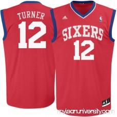 Mens Philadelphia 76ers Evan Turner adidas Red Replica Road Jersey - 493058