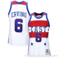 Mens Philadelphia 76ers Julius Erving Mitchell & Ness White All Star East 1980 Authentic Basketball Jersey -   1834309