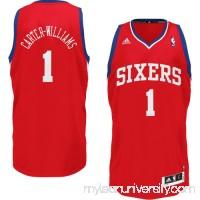 Mens Philadelphia 76ers Michael Carter-Williams adidas Red Swingman Jersey -   1760720