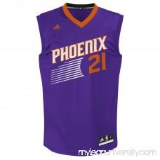 Mens Phoenix Suns Alex Len adidas Purple Replica Road Jersey - 2044499