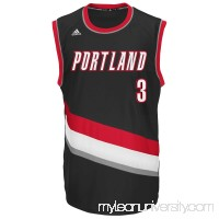 Mens Portland Trail Blazers CJ McCollum adidas Black Replica Road Jersey -   2043459