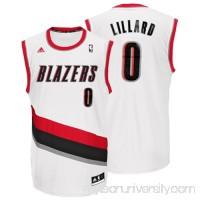 Mens Portland Trail Blazers Damian Lillard adidas White Replica Home Jersey -   1533274