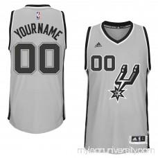 Mens San Antonio Spurs adidas Gray Custom Swingman Alternate Jersey - 1785878