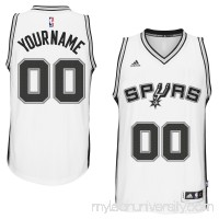 Mens San Antonio Spurs adidas White Custom Swingman Home Jersey -   1785879